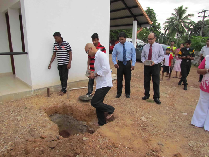 CCC house - laying foundation stone - Phase 2